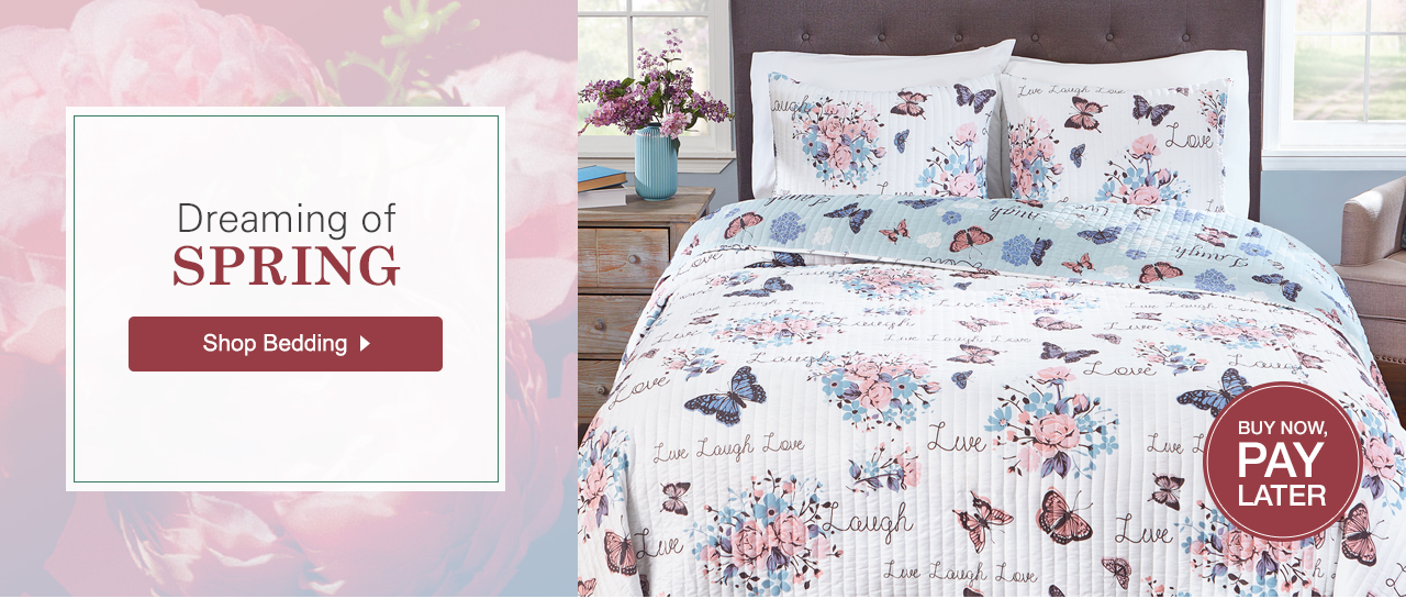 Dreaming of Spring. Shop Bedding