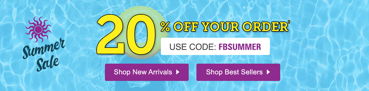 20% Off Your Order with promo code FBSUMMER. Shop Now.