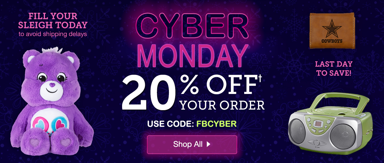 Cyber Monday Sale. 20% Off with Promo Code FBCYBER. Shop Now.