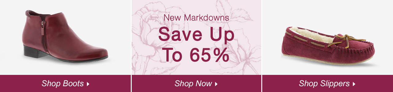 Shop Boots, Slippers and explore savings of up to 65% on our clearance tab!