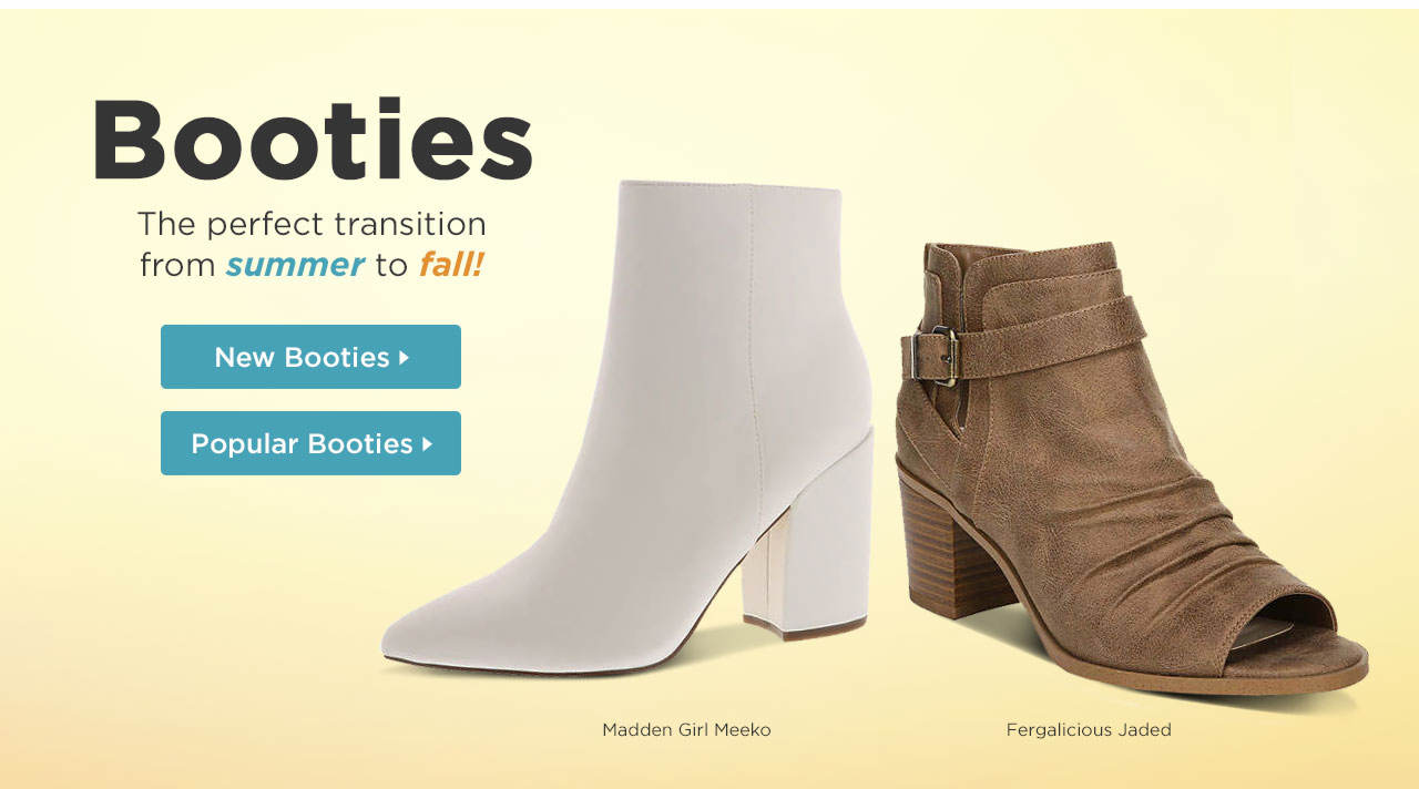 Booties - the perfect transition from summer to fall!