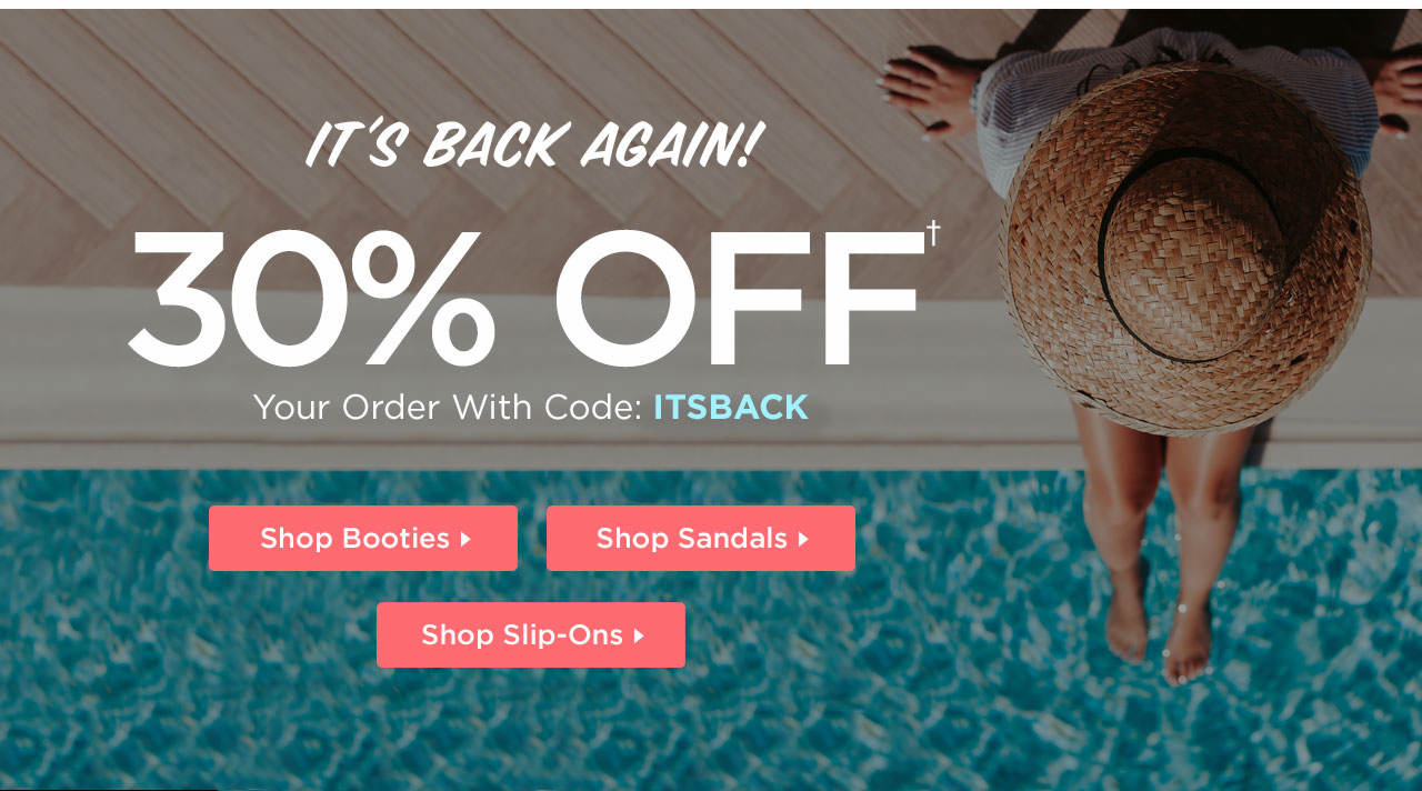 30% Off Your Order With Code: ITSBACK