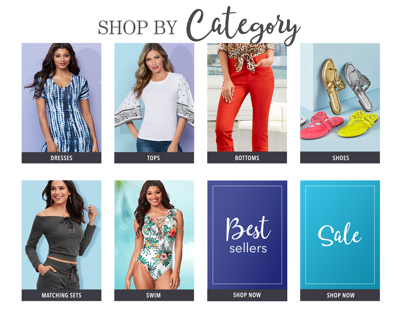 Shop dresses, tops, jeans, shoes, matching sets, swimwear, best sellers, sale, and pay later with K. Jordan Credit.