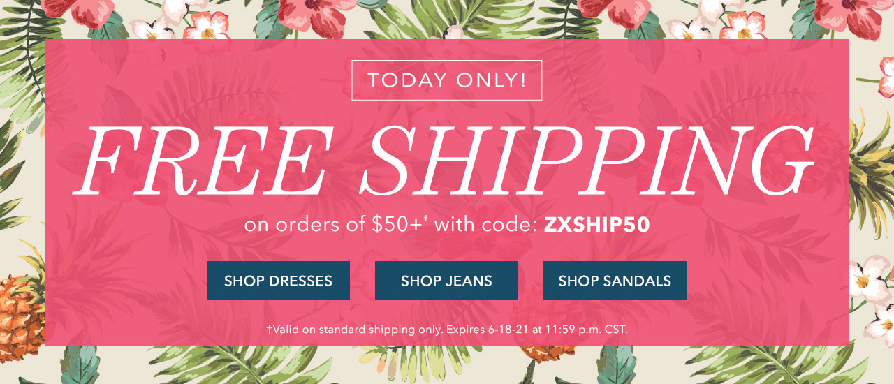 Free standard shipping on orders over $50 with code: ZXSHIP50. Shop Now.