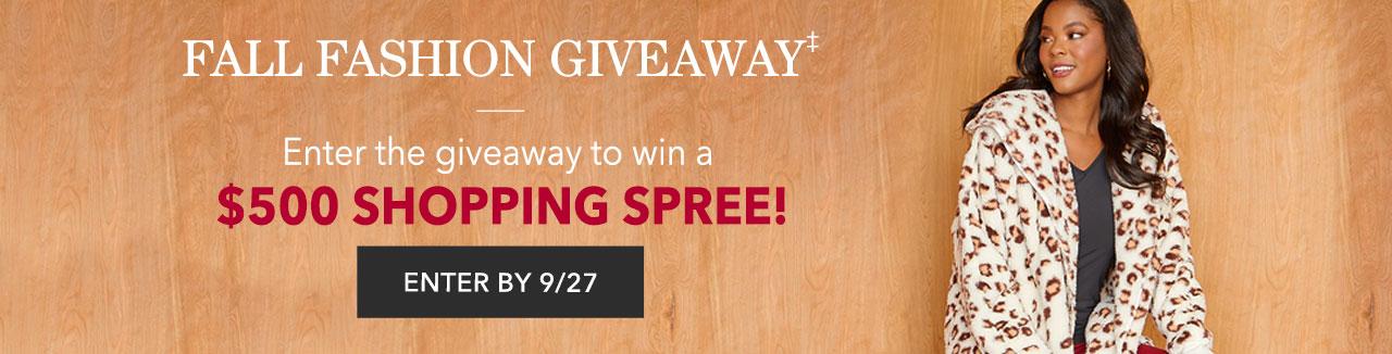 Enter To Win A $500 Shopping Spree!