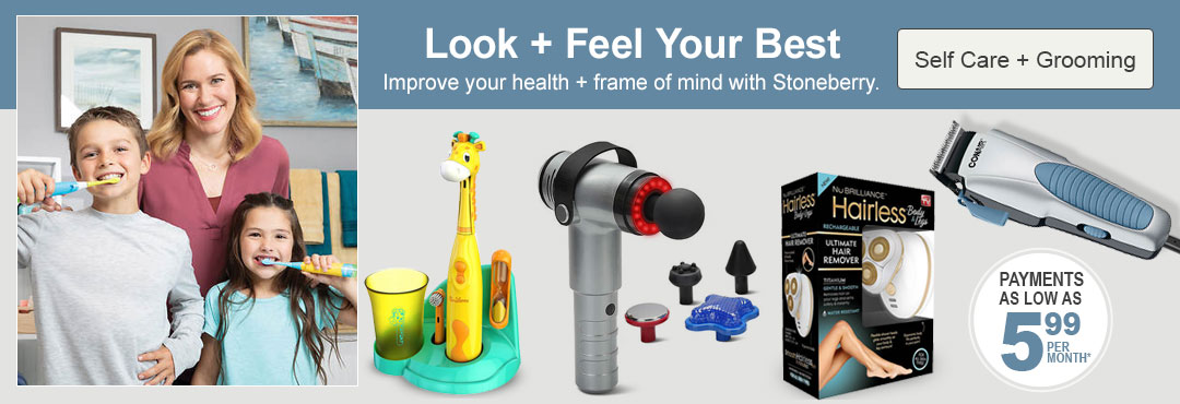 Improve your health and frame of mind with self care and grooming products from Stoneberry.