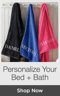 Shop Personalized Bed + Bath