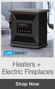 Shop Heaters + Electric Fireplaces