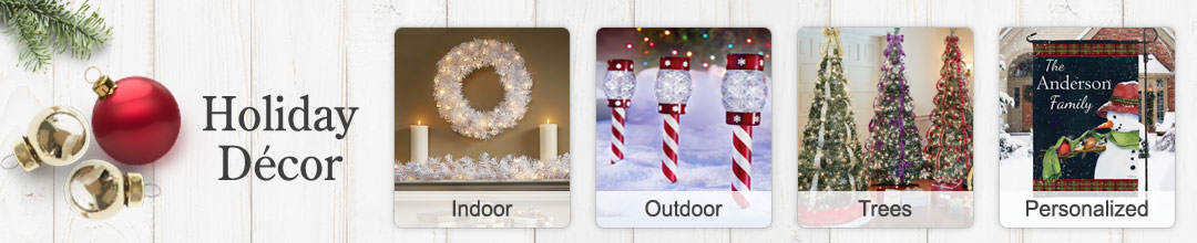 Shop our huge selection of holiday decor for indoor and outdoor use.