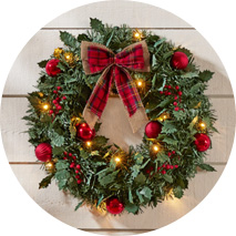 Holiday Wreaths + Garland
