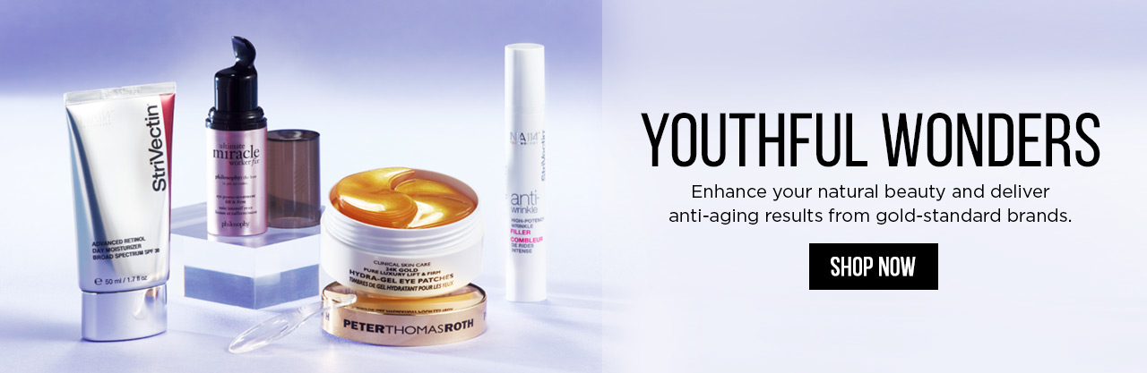Youthful Wonders - Enhance your natural beauty and deliver anti-aging results from gold-standard brands! Shop Now