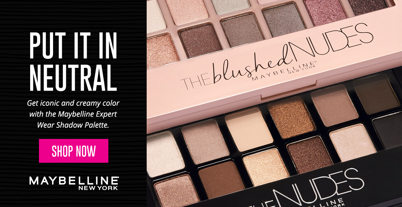 Put It In Neutral - Get iconic and creamy color with the Maybelline Expert Wear Shadow Palette! Shop Now
