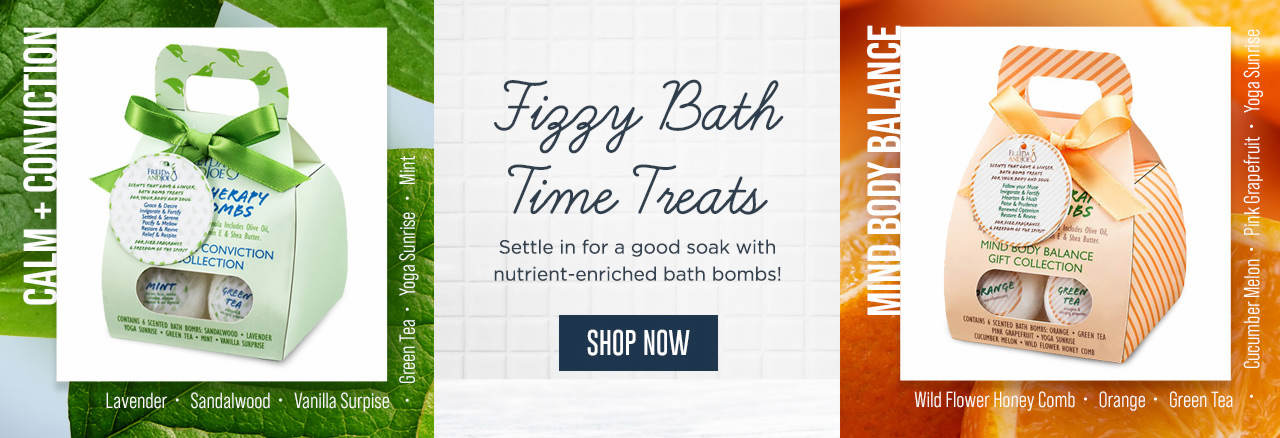 Fizzy Bath Time Treats - Settle in for a good soak with nutrient-enriched bath bombs! Shop Now