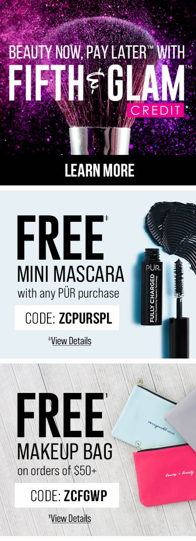 Beauty Now, Pay Later with Fifth & Glam Credit + Enjoy These Free Gifts With Purchase!
