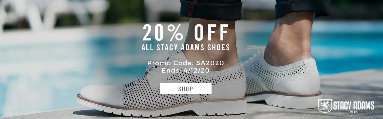 20% Off All Stacy Adams Shoes. Promo Code SA2020. Shop Now.