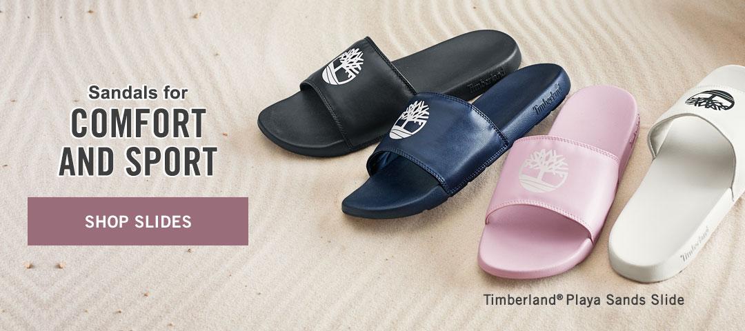 Sandals for Comfort and Sport. Shop Slides.