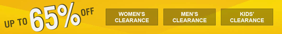Up to 65% off items for women, men and kids.