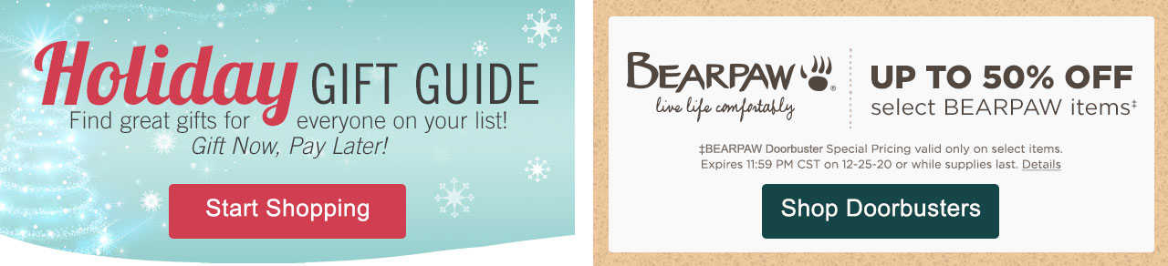 Shop Holiday Gift Guide & BEARPAW Doorbusters