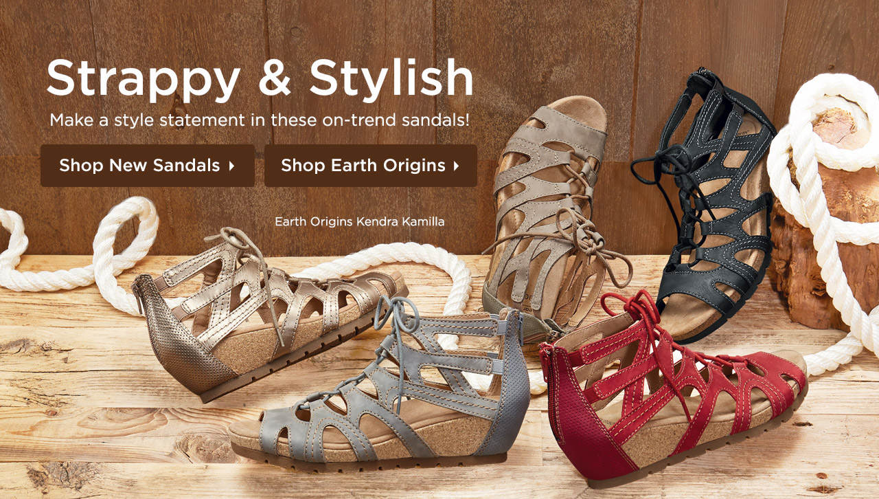 Strappy & Stylish - Make a style statement in these on-trend sandals! Shop Now