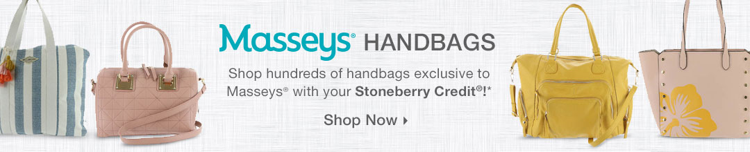 Shop hundreds of handbags exclusive to Masseys with your Stoneberry Credit!