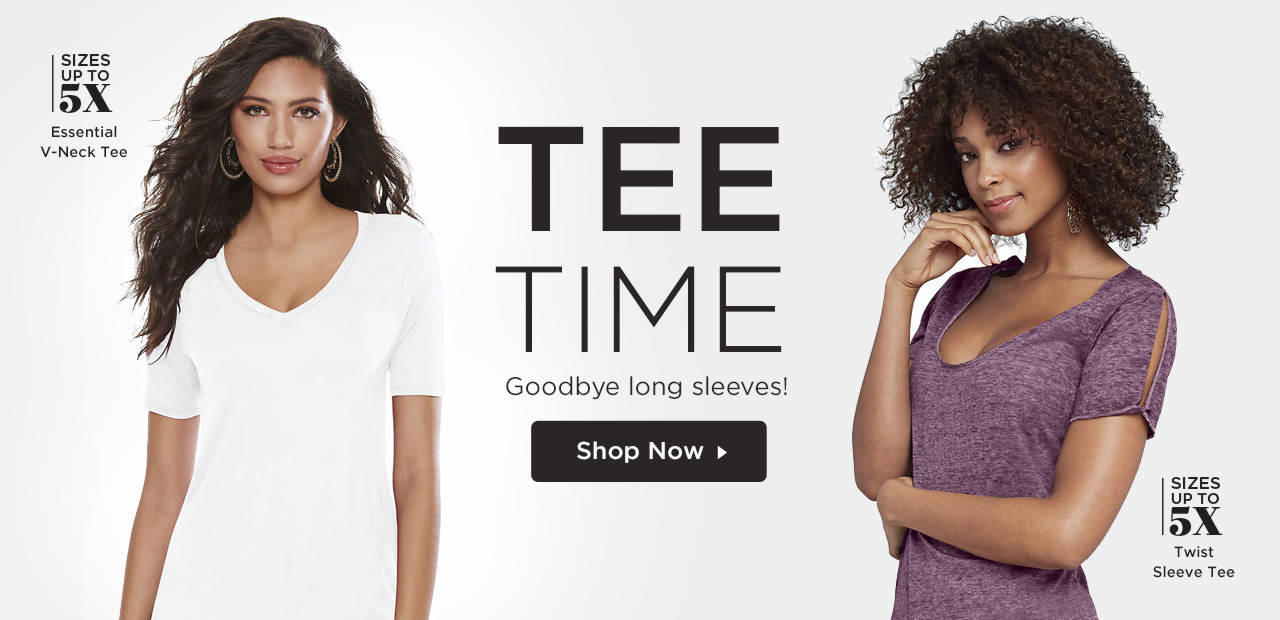 Tee Time - Say goodbye to long sleeves! Shop Now