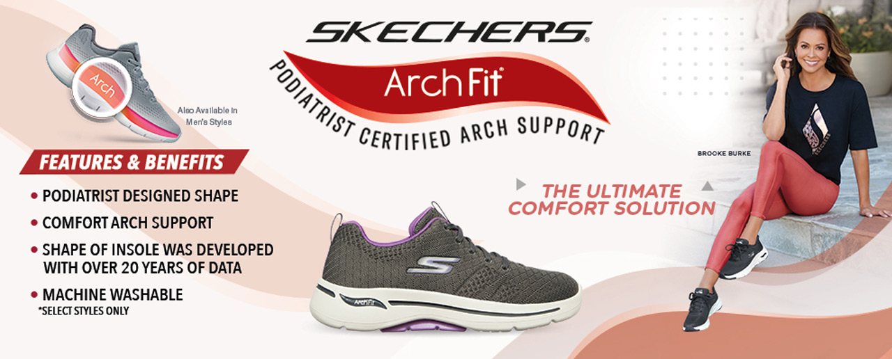 The ultimate comfort solution - Shop Skechers ArchFit