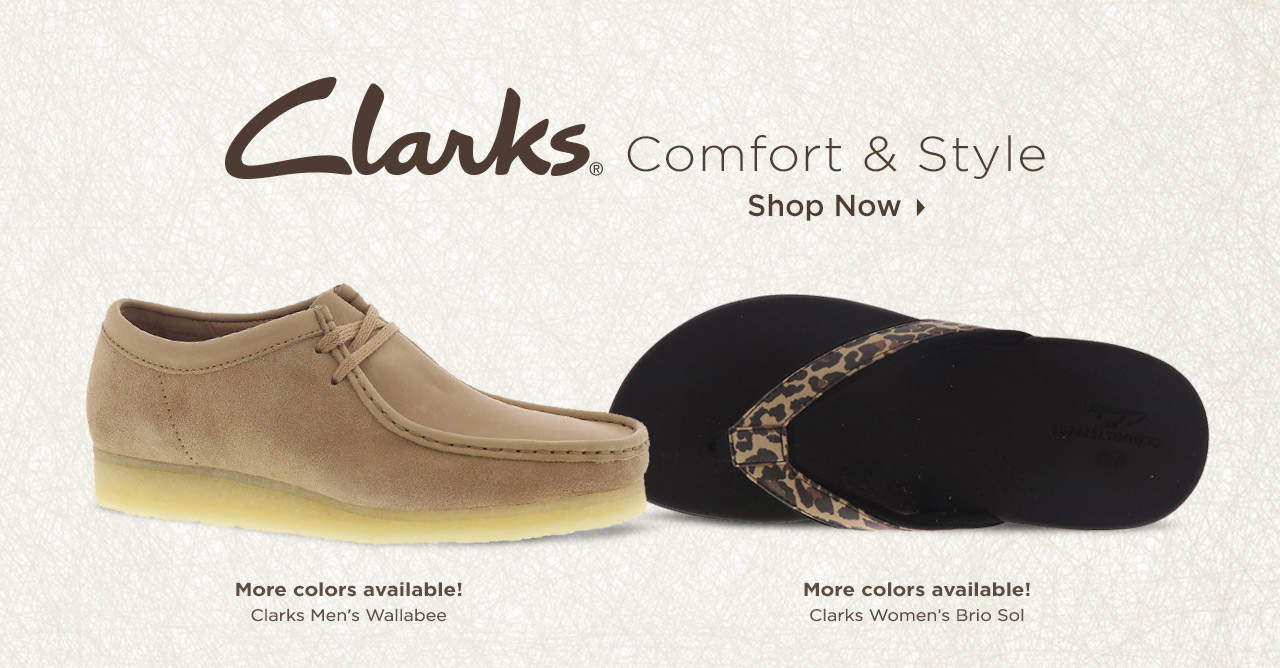 Enjoy Comfort & Style With Clarks! Shop Now