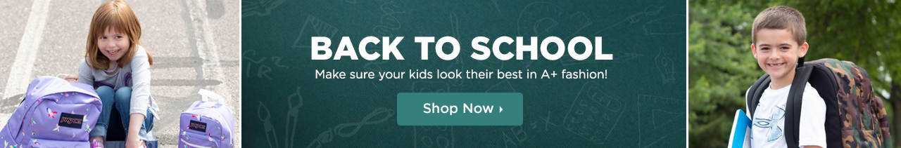 Make sure your kids look their best in A+ fashion! Shop Back to School Styles