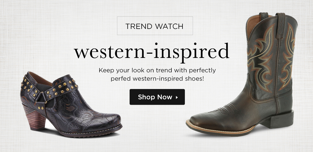 Keep your look on trend with perfectly perfed western-inspired shoes - Shop Now!