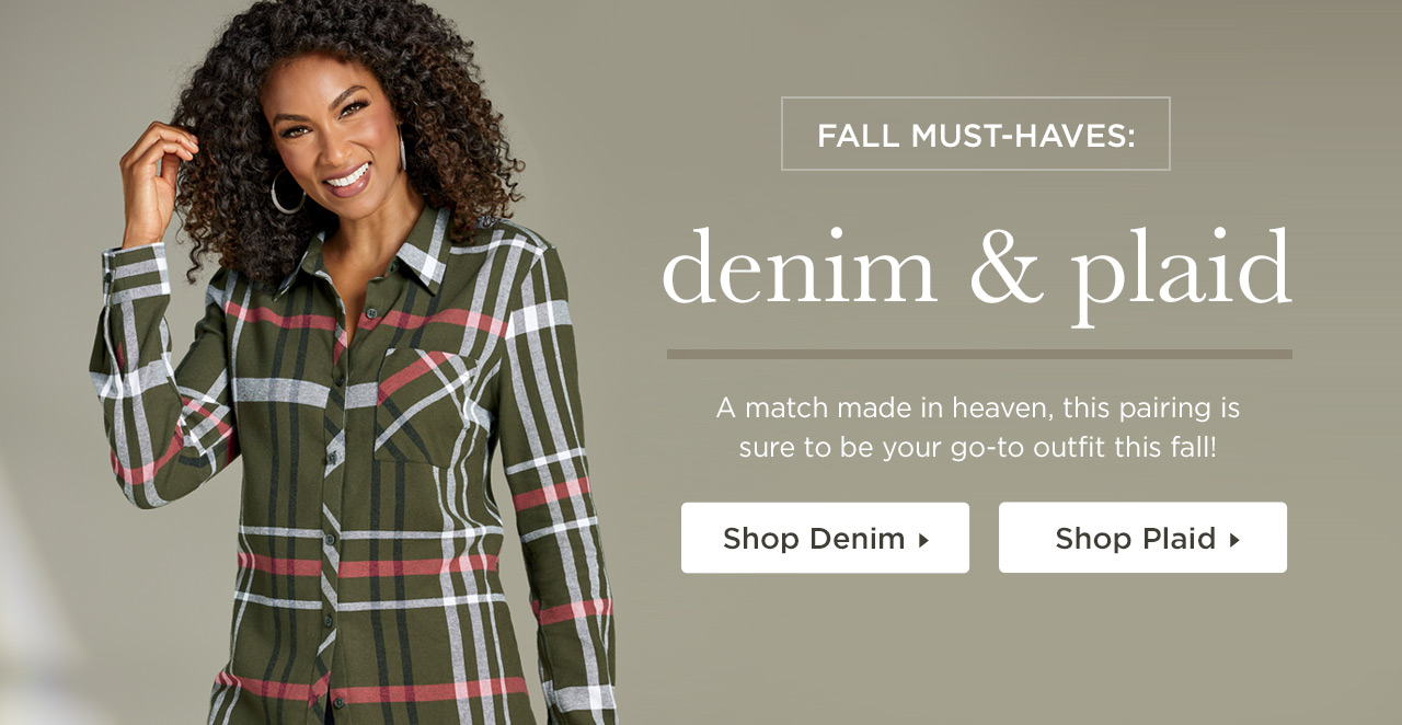 Fall Must-Haves: Denim and Plaid - Shop Now