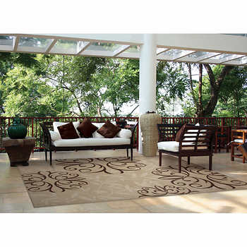 Orian Rugs Outdoor Area Rug Collection Josselin Whisper