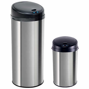 Honey Can Do Round Stainless Steel Sensor Trash Can bo