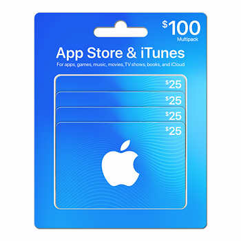 [Costco]$100 Pack of iTunes Cards for $79.99