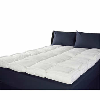White duck Down Pillow top Feather bed Mattress Topper