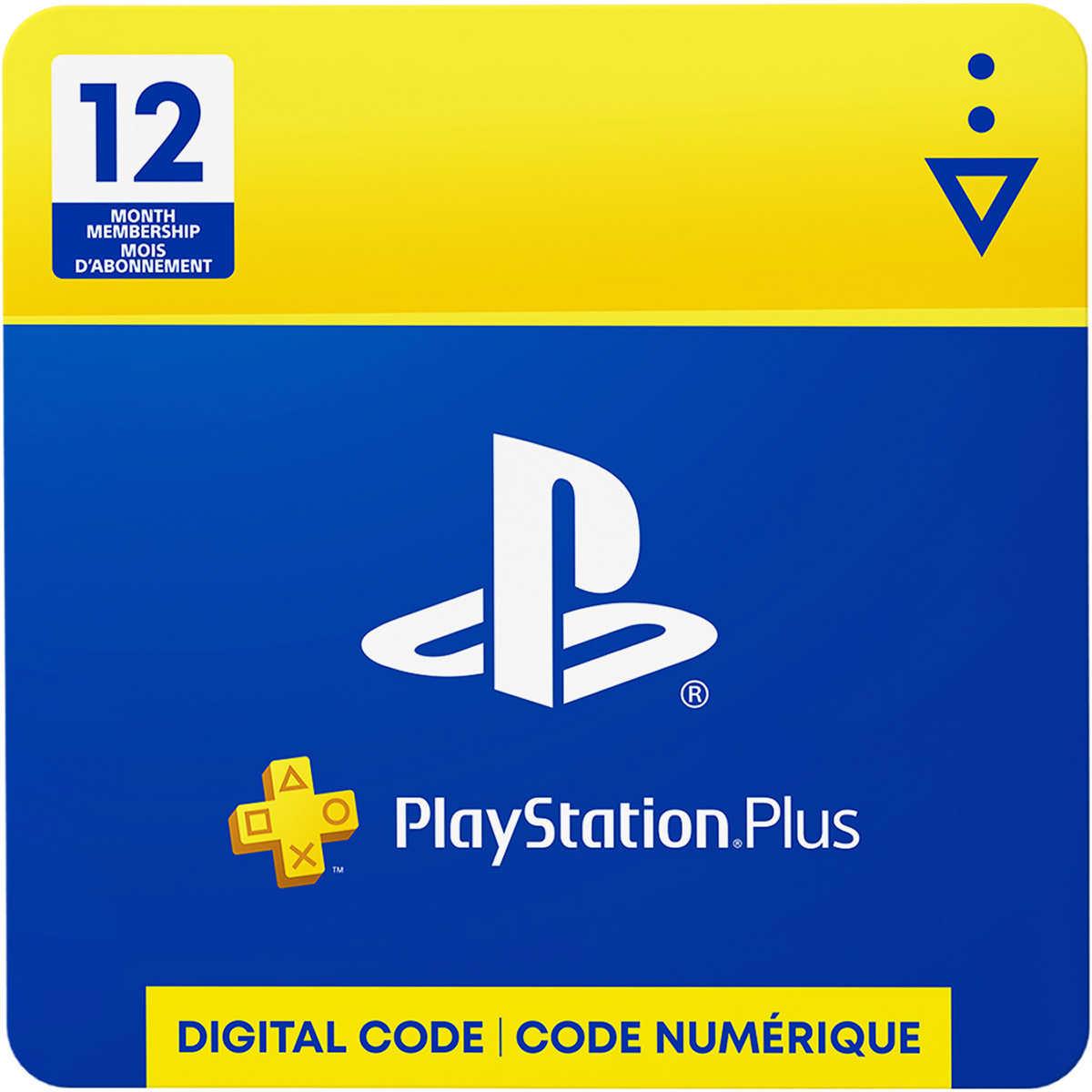 Playstation Plus 12 Month Membership Digital Download
