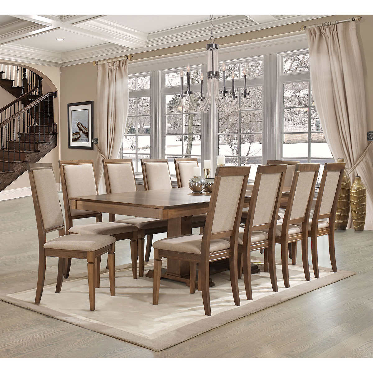 Manchester 11 Piece Dining Set Costco, Costco Dining Room Sets