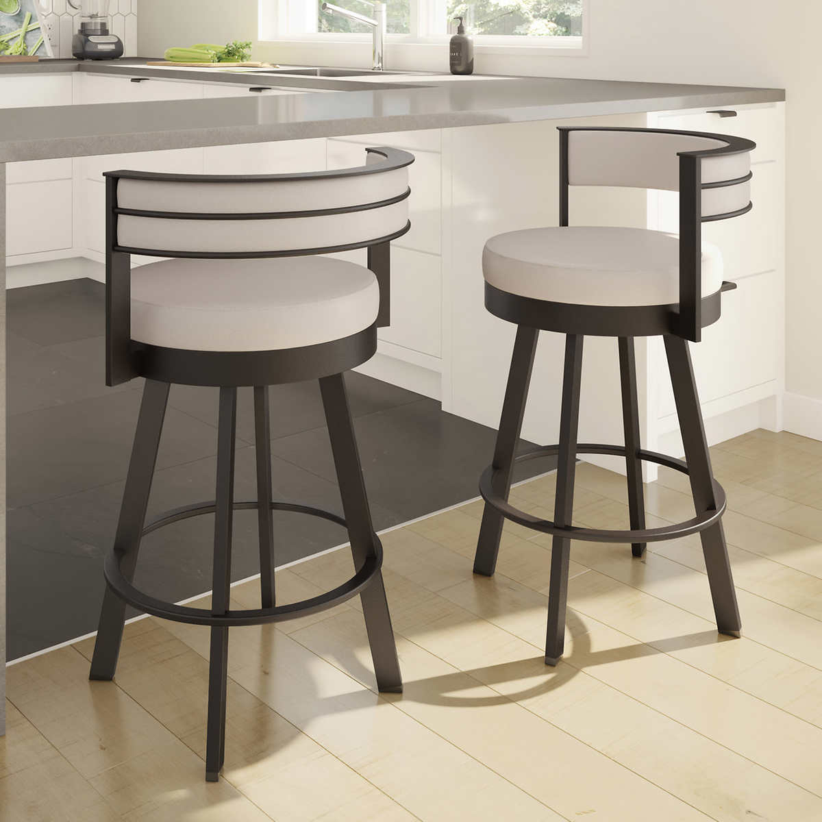 Amisco Browser Brown Bar or Counter Stool