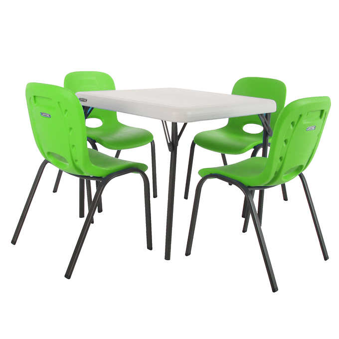 Lifetime Children S Table And 4 Stacking Chairs Costco - How Much Are Folding Tables At Costco Canada