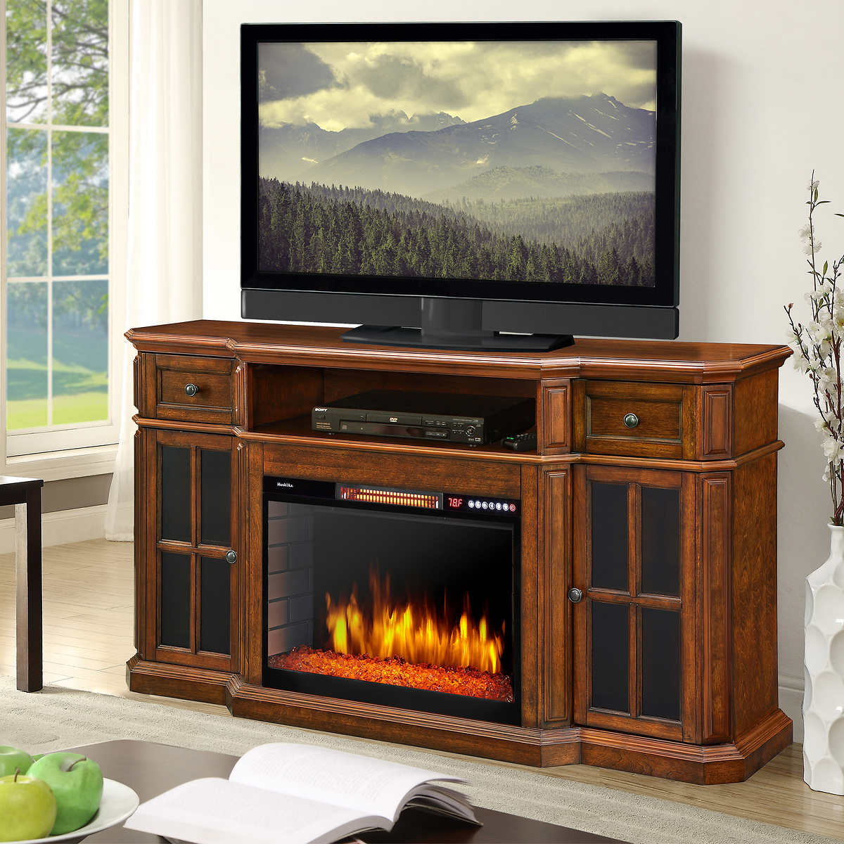 Muskoka Sinclair 20 in. Media Electric Fireplace with LED Lights and  Bluetooth