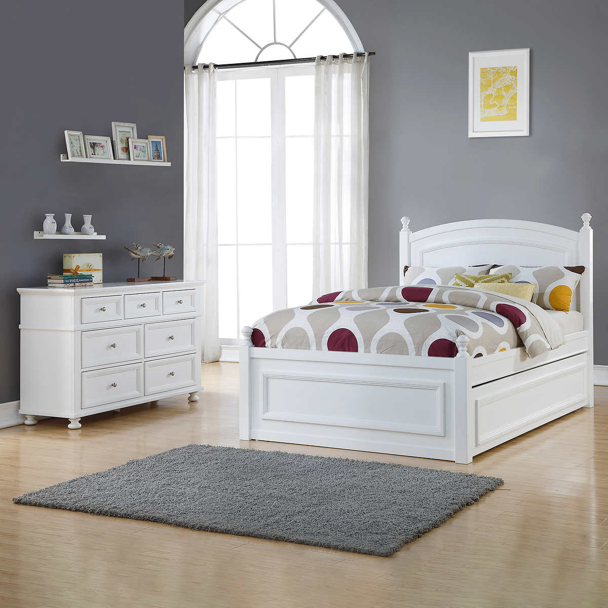 Ava Double Trundle Bed with Dresser