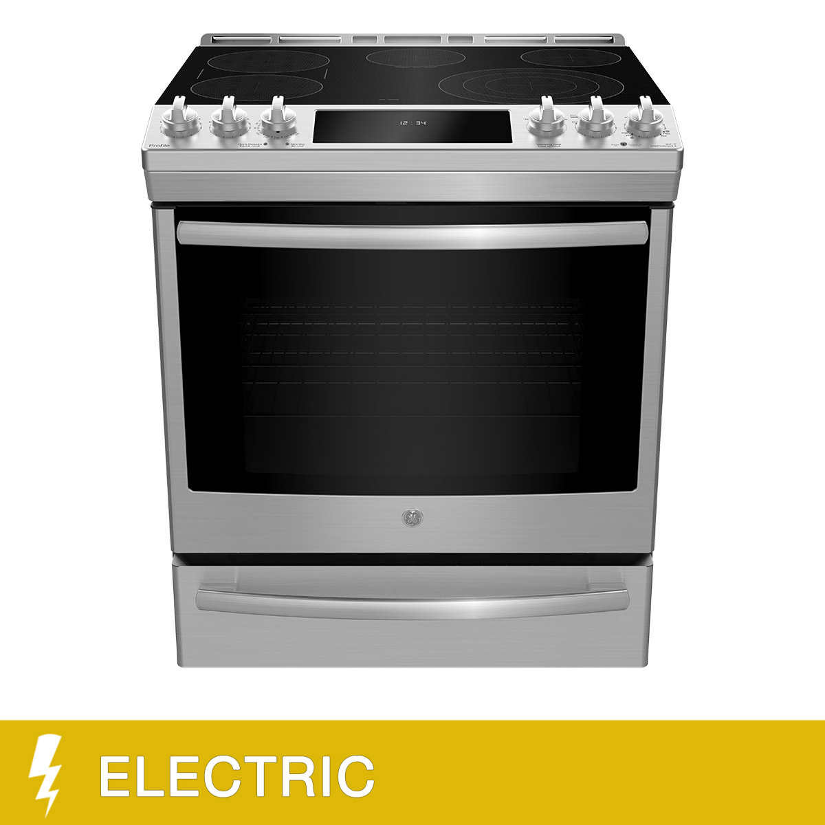 Ge Profile 30 In 6 3cu Ft Slide In Stainless Steel Electric Range With Built In Wi Fi Connection