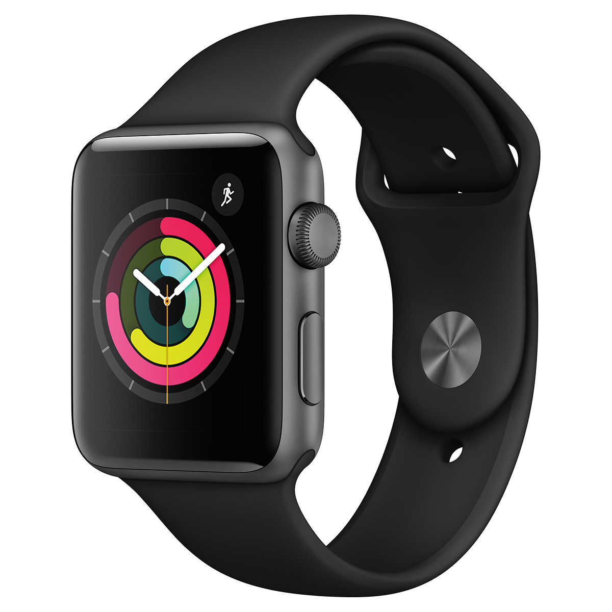 Apple Watch Series 3 Gps 42 Mm Space Grey Aluminum Case With Black Sport Band