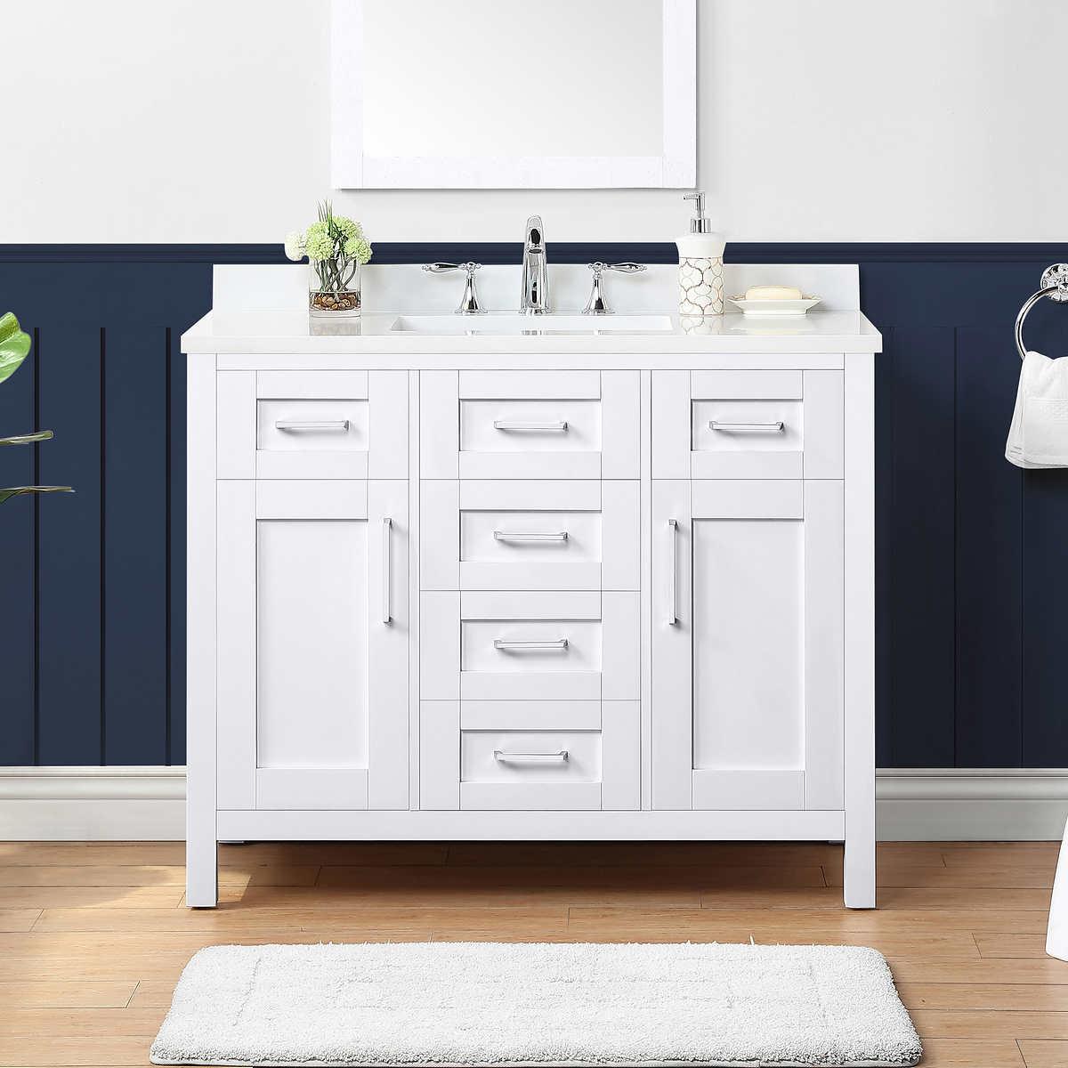 Ove Nevada 42 In White Vanity Costco, Ove 42 Inch Bathroom Vanity Costco