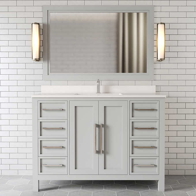 Forestmade Acadian 48 In Vanity With, What Size Mirror Goes With A 48 Inch Vanity