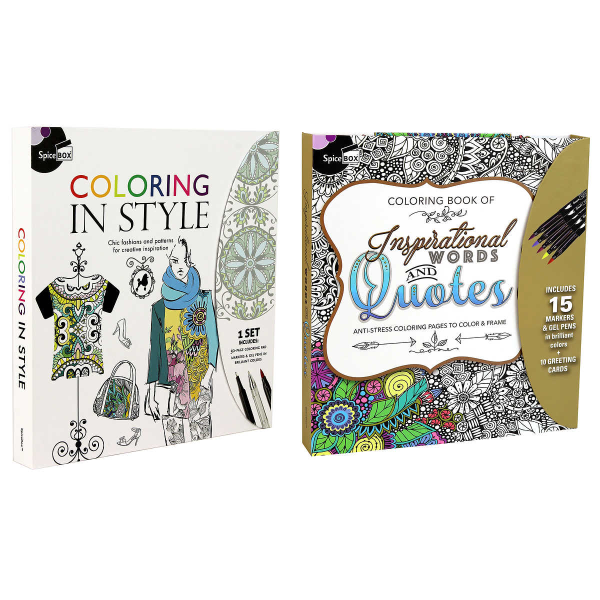Spicebox Sketch Plus Colouring In Style And Words And Quotes Bundle