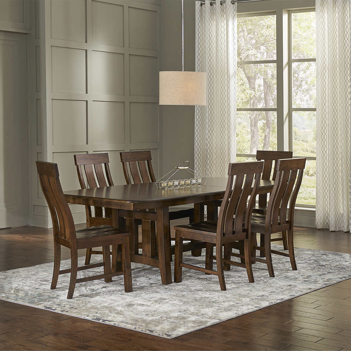 Foxvale 7 Piece Solid Wood Dining Room Set