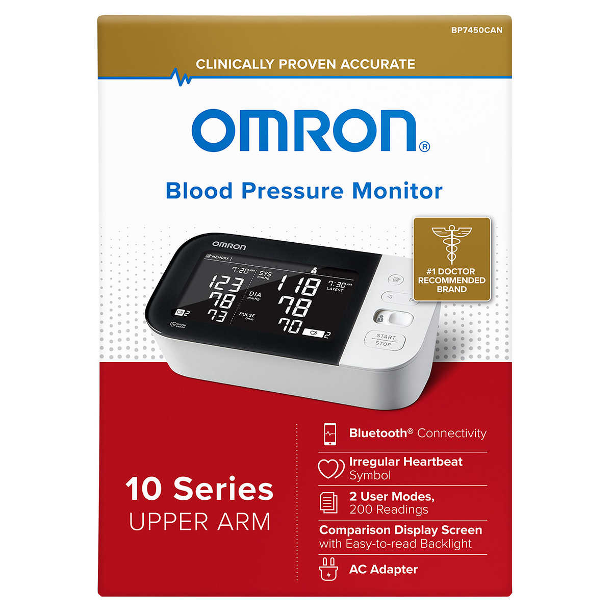 Omron BP 20   Blood Pressure Monitor With Bluetooth Connectivity
