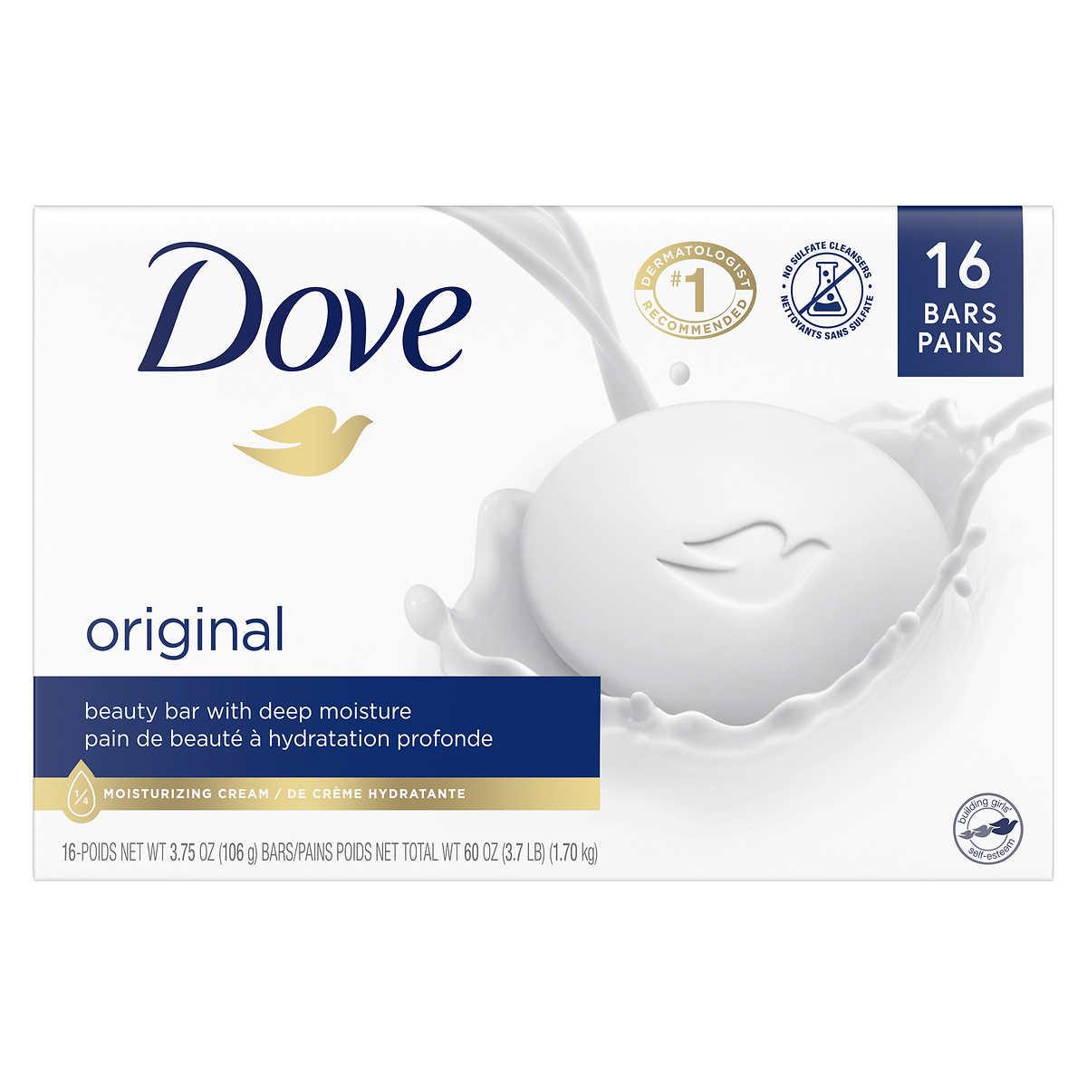 dove white soap