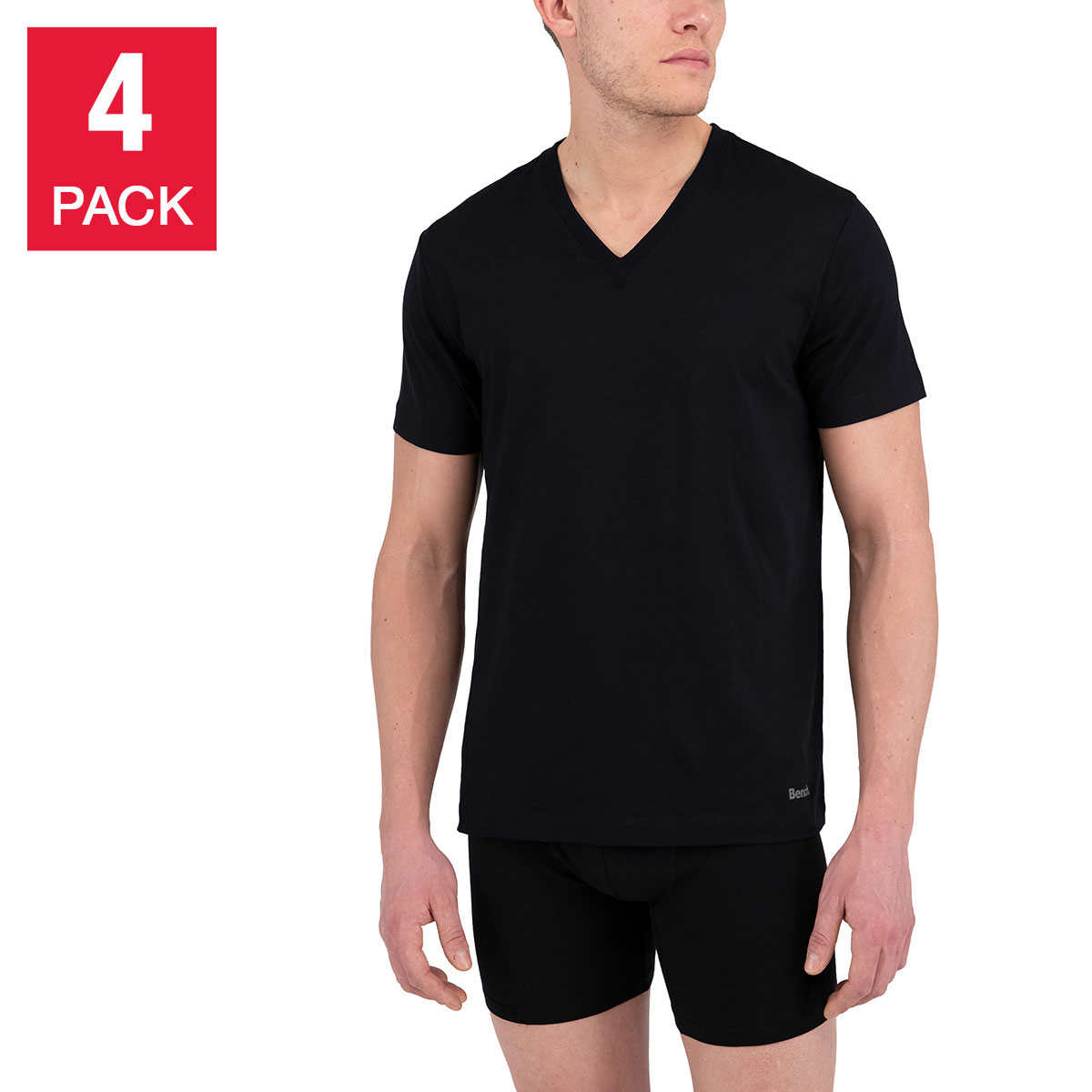 Bench Men S V Neck T Shirt 4 Pack