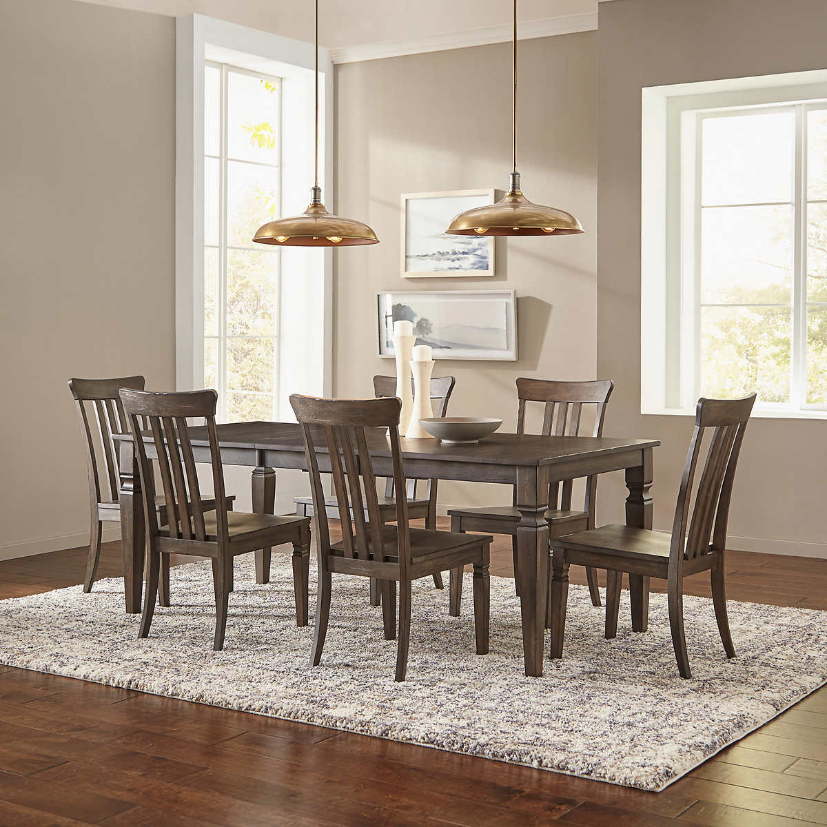 Oxford 7 Piece Solid Wood Dining Room, 7 Piece Dining Room Set Under $500